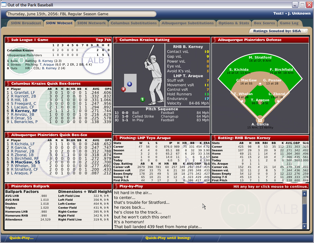 OOTP Baseball Manager 2006 Demo